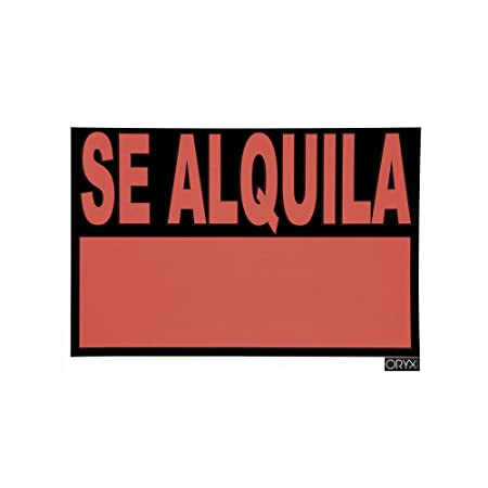 Oryx 15056000 Cartel Se Alquila 50x35 cm, 50 x 35 cm: Amazon ...