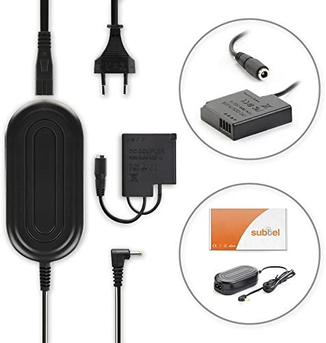 subtel/® Fuente alimentaci/ón Compatible con Panasonic Lumix DMC-GF7 5.1V Cable de Corriente DMW-AC5 DMW-DCC15 DMC-GM5 3m ca DMC-GM1