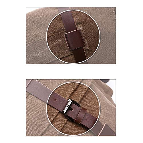 Tracolla Borsa Coppia Confezione Pocket A Casual Da Multi Uomo Yxpnu Canvas Street Coffee qTfEdxzwx