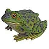 Design Toscano QM20510 Ribbit The Frog Garden Toad Statue, 9 Inch, Full Color