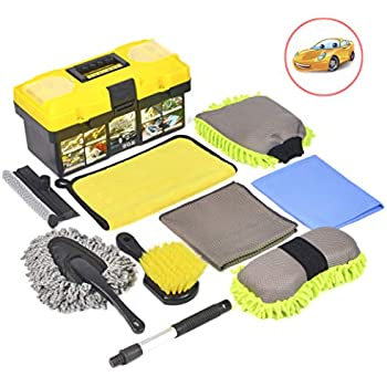 Amazon com: Mofeez 9pcs Car Cleaning Tools Kit with Blow Box