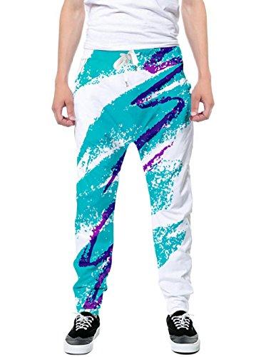 Goodstoworld Unisex 3D Print 90s Paper Cup Graphic Casual Pants Sport Baggy Sweatpants for Mens/Womens