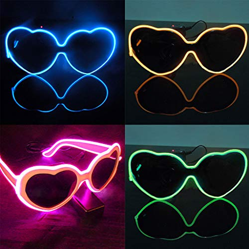 Glumes LED Glasses Musical Shades, Slotted Shutter Flash Light Eye-wear for Nightclub, Bar, Disco, Carnival, Halloween, Dancing Party 1 PC (Without Batteries) -