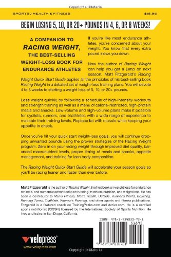 racing weight quick start guide a 4 week weight loss plan for rh amazon com racing weight quick start guide Quick Start Guide Windows 7