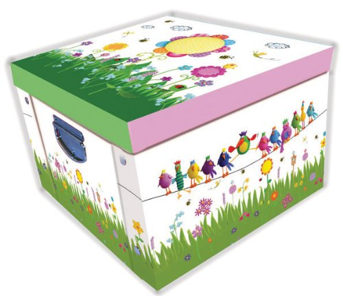 Marzipan Floral & Birds Large Collapsible Storage Box