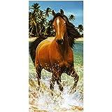 Toalla de playa, diseño de caballo