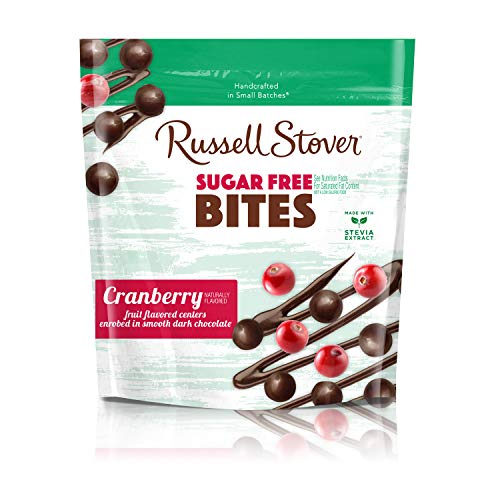 - Russell Stover Dark Chocolate Sugar Free Cranberry Bites, 5 Ounce Bag (6 Count)