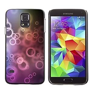 TopCaseStore / la caja del caucho duro de la cubierta de protección de la piel - Circles - Samsung Galaxy S5 SM-G900