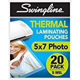 "Swingline Thermal Laminating Sheets / Pouches, 5"" x 7"" Pouch, 20 Pack (3202063)"
