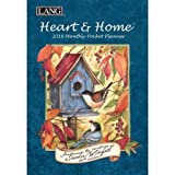 "LANG - 2018 Monthly Pocket Planner - ""Heart & Home"" - Artwork By Susan Winget - 13 Month - January to January - Portable 4.5"" x 6.5"""