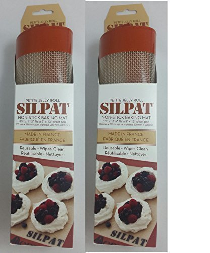 Silpat AE295205-01 Premium Non-Stick Silicone Baking Mat, 11-3/4-Inch x 8-1/4-Inch (2 pack) by Silpat by Silpat (Image #1)