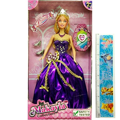 princess doll playset with purple dress with royal jewels sparkle