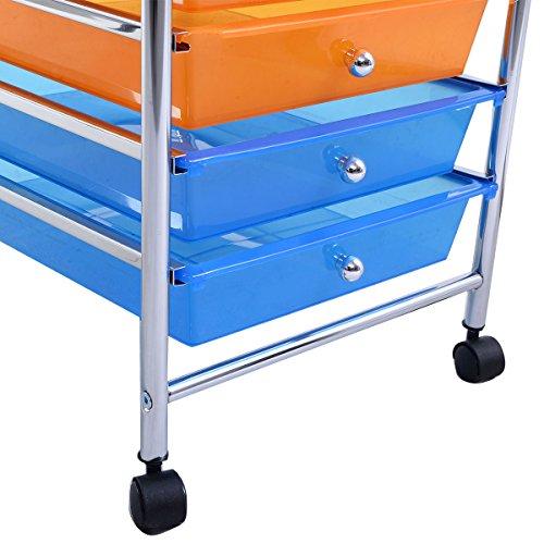 Kaysev 10 Drawer Rolling Storage Organizer Cart Multi