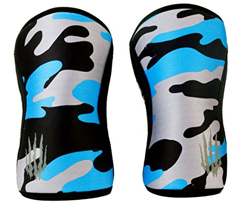 Bear KompleX Compression Knee Sleeves, Fitness & Support for Workouts & Running. Sold in Pairs-Crossfit Training, Weightlifting, Wrestling, Squats & Gym Use. 5mm&7mm Thick, Multicolor Options for Both