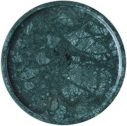 ミラートレイ ジュエリー香水メイクアップ化粧品のストレージと組織のための大理石バス洗面化粧台トレイ バニティドレッサーの浴室の寝室のため (色 : 緑, Size : 25x25cm)
