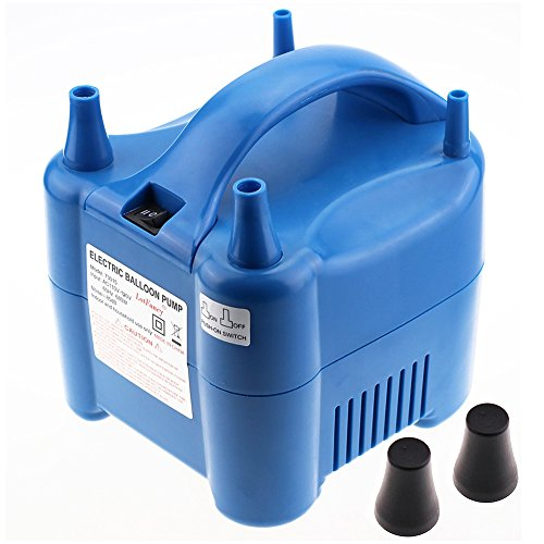 LotFancy Balloon Pump Inflator - Electric Latex Balloon Air Pump Blower for Decoration, Portable, Dual Nozzle, 110V-120V, 680W