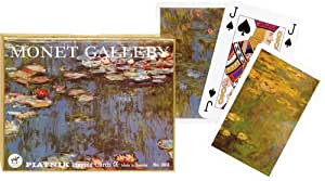 Piatnik Playing Cards - Monet Gallery - Lilies, Double Deck