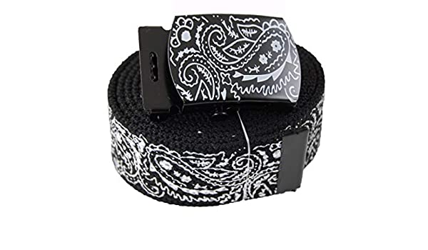 Top Fashion Bandanas Canvas Military White Web Belt /& Buckles #MNAS
