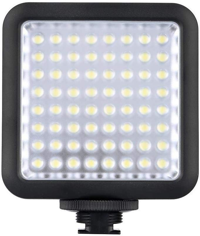 GODOX LED64 Portable /& Dimmable Continuous On Camera LED Panel Video Light for DSLR Cameras /& Camcorders 5500K-6500K Color Temperature