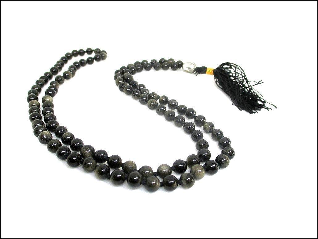 Amazon.com: HIJET Negro Obsidiana cabeza de Buda Mala ...