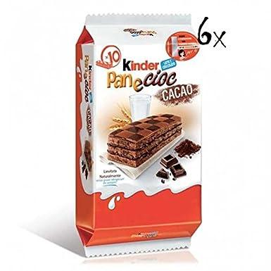 6x Kinder Ferrero Pane + Cioc Itlian Sponge Finger Cakes with Chocolate (10x Pack) 30g: Ferrero: Amazon.es: Alimentación y bebidas