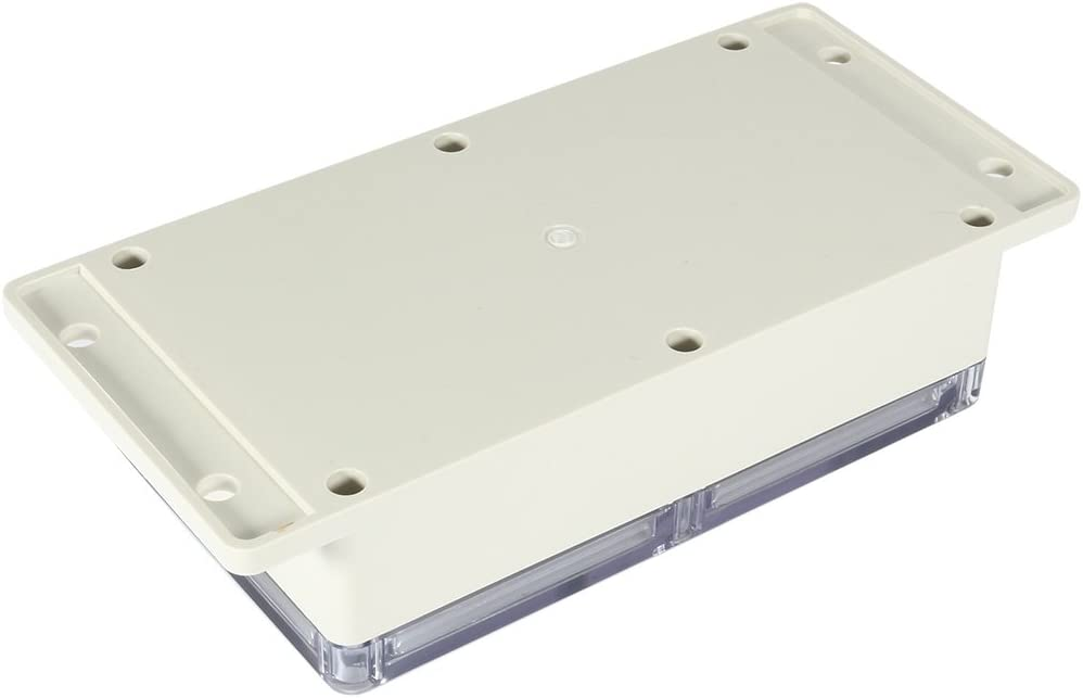Caja de conexiones de ABS Caja de proyecto universal con cubierta transparente para PC 158 mm x 90 mm x 46 mm sourcing map 6.2x3.5 x1.8