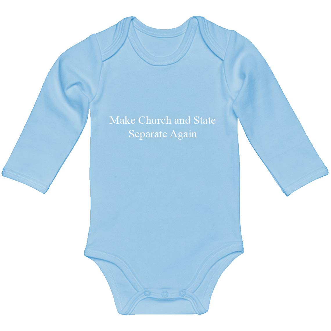 Indica Plateau Baby Onesie Make Church and State Separate Again 100/% Cotton Long Sleeve Infant Bodysuit