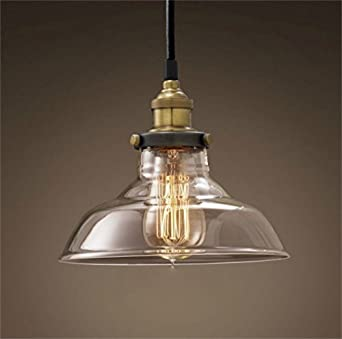 retro dig industrial vintage style light fitting glass ceiling pendant lamp  shade light lighting for