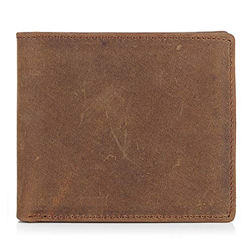 - Leather Wear-Resisting Practical Purses Hand Bag Restoring Ancient Ways Men and Women General Portable Pocket Wallet (Color : Light Brown)