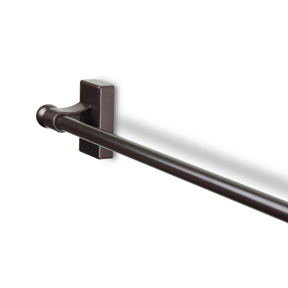 17 in. - 30 in. Telescoping Magnetic Curtain Rod (cocoa)