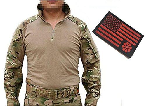 (Men Airsoft Tactical Series Military Combat Gen3 BDU Shirt Multicam MC)