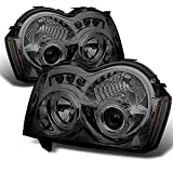 Jeep Grand Cherokee Smoked Smoke Dual Halo Ring Projector LED Replacement Headlights LH/RH Head Lamp