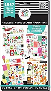 The MINI Happy Planner Value Pack Stickers FOOD 1551pcs 30 sheets