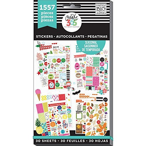 me & my BIG ideas PPSV-04 Create 365 The Happy Planner Sticker Value Pack Planner, Brilliant Year Seasonal, 1557 Stickers -