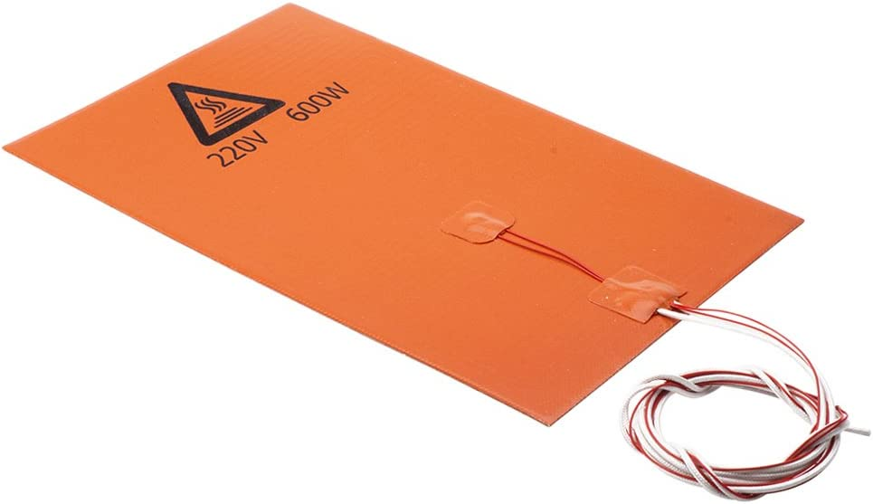 IPOTCH 200x300mm Flexible Silicone Heater Mat//Pad 3D Printer Heating Bed 220V//600W