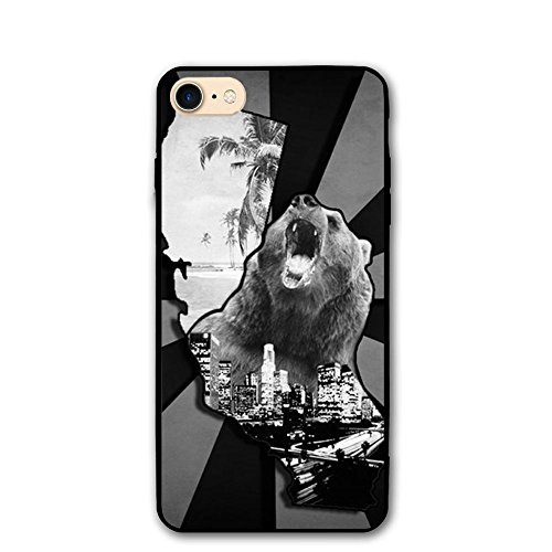 Zebra Tie Dye California Bear PC IPhone 8/8S Case Protective 3D Phone Case Slim Back Cover 4.7 Inch Ultra Thin & Light Soft Touch Feeling Durable Flexible Anti-Scratch