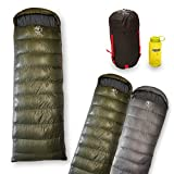 Outdoor Vitals Explorer 25°F Rectangular Down Sleeping Bag, Double, 2 Person, 3 Season, (Dark Green Left Side Zip, Large) Review