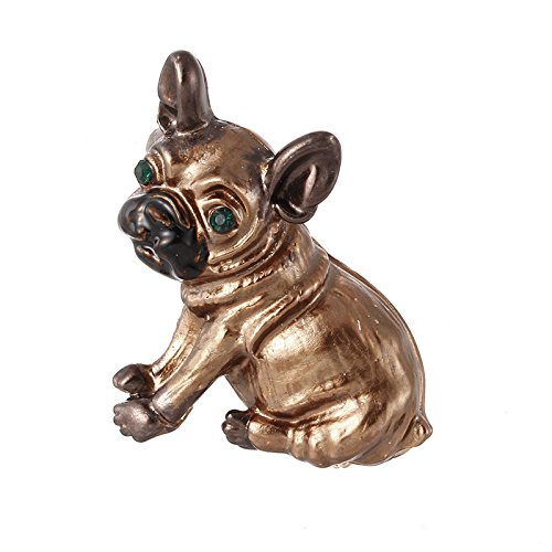 SODIAL Cute Pug Dog Broches Green Eyes Animal Corsage Pins Ninos Ninas Camisa Abrigo Clips Broches Ropa Accesorios Joyas 150981
