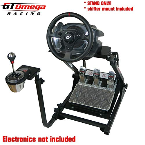 GT Omega Racing Wheel Stand PRO for Logitech G29 G920 with Shifter Mounts  V1 & V2, Thrustmaster T500 T300 TX & TH8A - PS4 Xbox Fanatec -