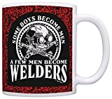Fathers Day Gift Some Boys Become Men Few Become Welders Dad Gift Coffee Mug Tea Cup Paisley