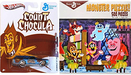 - Frankenberry Count Chocula Frute Brute Yummy Mummy Boo-Berry Monster Cereal Gang 500 pc Puzzle & Hot Wheels Pop Culture Car
