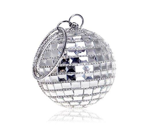 Main Bal à élégant soirée diamants Mini Sac Soirée à de Femme Pochette et Sac Soirée avec pour Banquet Slive Mariage Bal dos avec Chaîne wq0xF7tYI