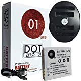 DOT-01 Brand 1400 mAh Replacement Canon NB-4L Battery and Dual Slot USB Charger for Canon SD1400 is Digital Camera and Canon NB4L
