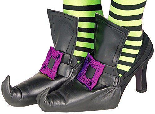 Forum Novelties Women's Wild 'N Witchy Adult Shoe Covers, Purple, One (Witchy Woman Costumes)