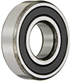SKF Radial Bearing, Single Row, Deep Groove Design, ABEC 1 Precision, Double Sealed, Contact, Normal Clearance, Steel Cage, Inch