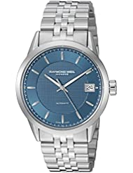 Raymond Weil Mens Freelancer Swiss Automatic and Stainless Steel Casual Watch, Color:Silver-Toned (Model: 2740...