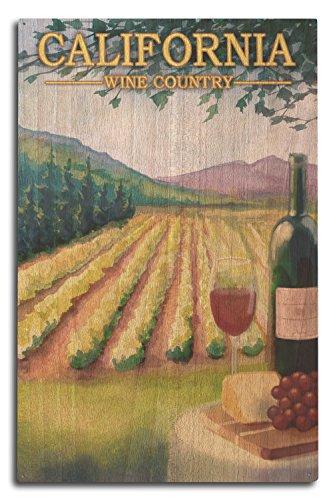 Lantern Press California - Wine Country (10x15 Wood Wall Sign, Wall Decor Ready to Hang)