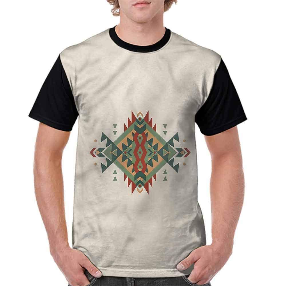 Performance T-Shirt,Native Culture Elements Fashion Personality Customization