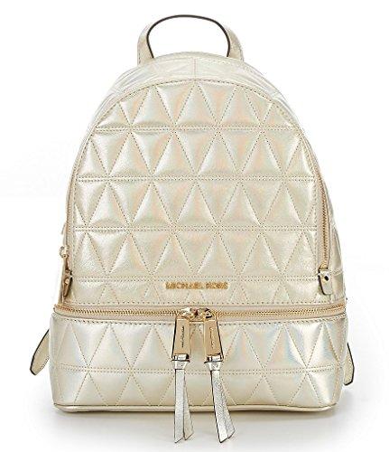 MICHAEL Michael Kors Rhea Zip Medium Backpack (Quilted Pale - Shops Michael Kors