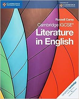 Amazon com: Cambridge IGCSE Literature in English (Cambridge